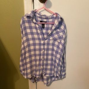 Super soft Gap blue and white checked flannel